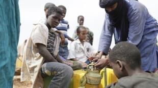 Малийские беженцы в лагере Буркино-Фасо.