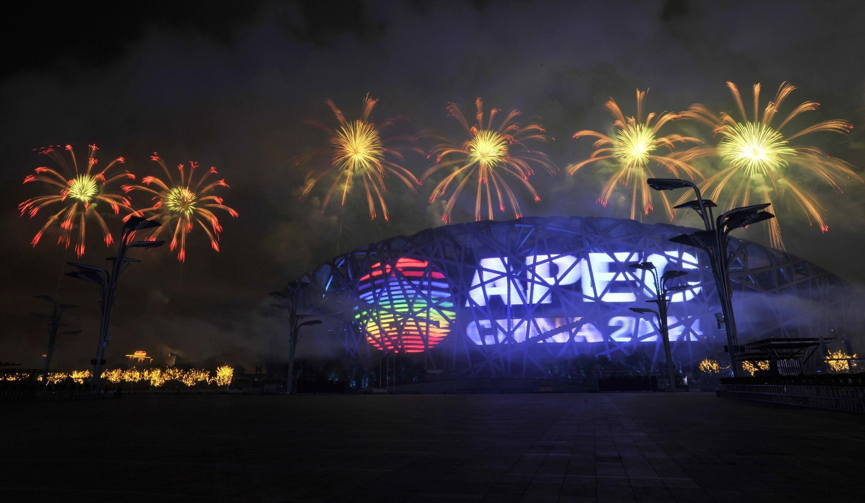 Màn trình diễn pháo hoa tại lễ khai mạc Hội nghị thượng đỉnh APEC được tổ chức tại Bắc Kinh, Trung Quốc, ngày 04/11/2014.