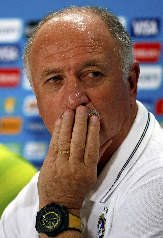 O treinador Luiz Felipe Scolari durante a conferência de imprensa no Mineirão.