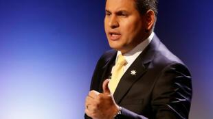 El candidato y pastor evangélico Fabricio Alvarado, sorpresa de la campaña presidencial en Costa Rica.
