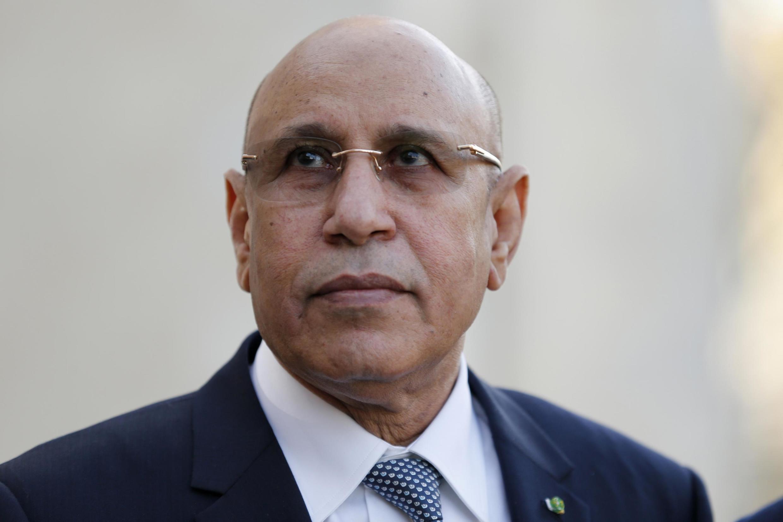 Le président mauritanien Mohamed Ould Cheikh el-Ghazouani au sommet de Pau sur la situation au Sahel, le 13 janvier 2020.