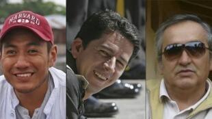 Javier Ortega, Paúl Rivas y Efraín Segarra.