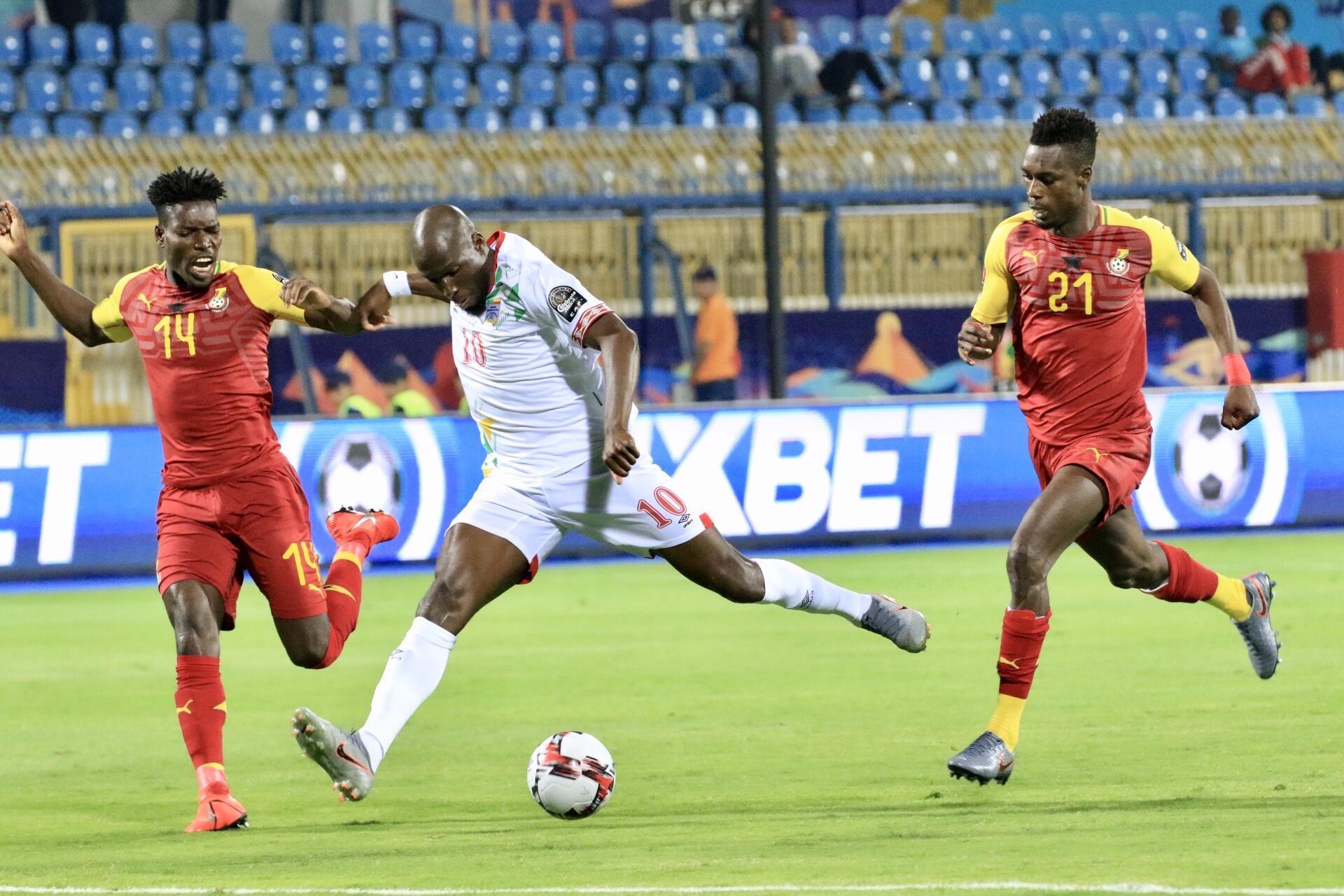 Le Béninois Mickaël Poté a signé un doublé face au Ghana.
