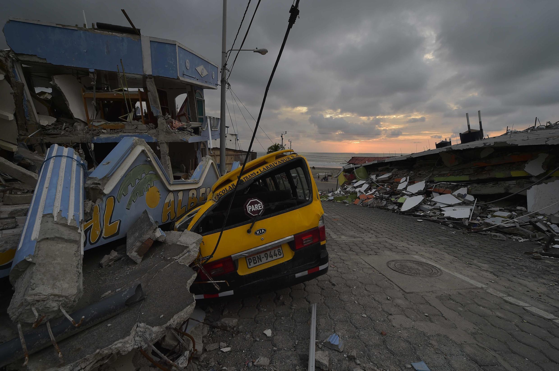 La ciudad de Pedernales, en la costa del Pacífico, fue la más afectada por el terremo del 16 de abril de 2016.