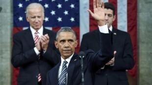 2016年1月12日晚,美國總統奧巴馬在國會兩院聯席會議上發表任內最後一次國情咨文演講。