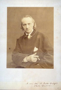 Charles Baudelaire, photographed by Charles Neyt between 1864 and 1866