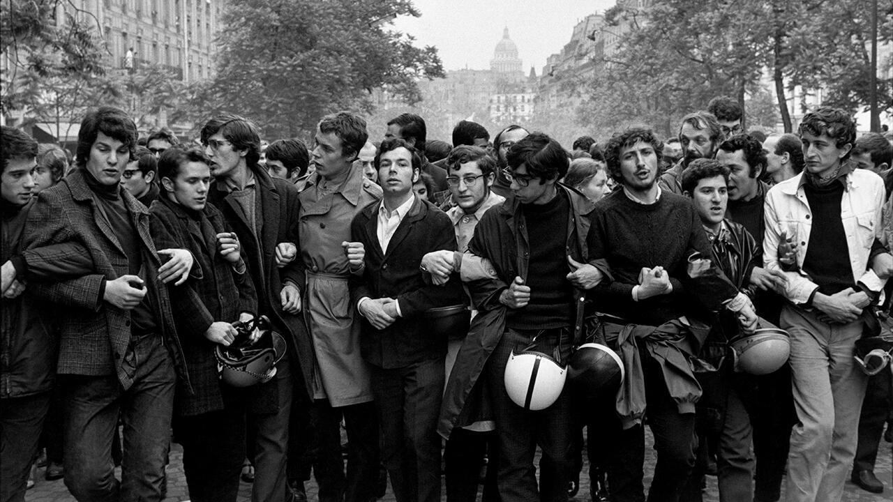 Марш к стадиону Шарлети, май 1968. Фрагмент.