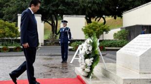 Shinzo Abe en Honolulu, Hawái, este 26 de diciembre.