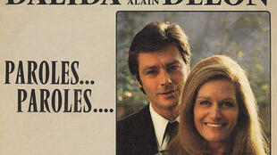 Alain Delon y Dalida.