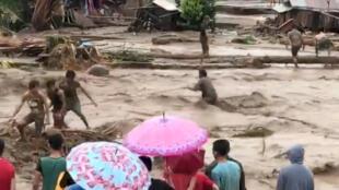 تصویر ویدئویی از شبکه های اجتماعی که توسط خبرگزاری رویترز منتشر شده است.