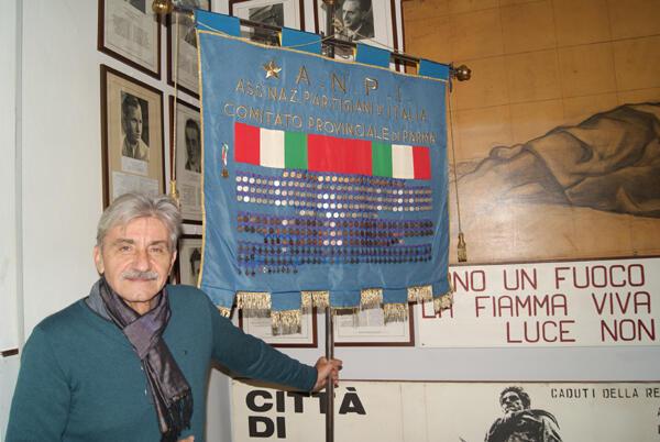 A Parme, Aldo Montermini, qui préside l'association des Partigiani, prépare activement la fête du 25 avril avec la mairie.