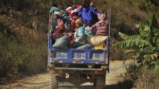 Wasu 'yan ciranin Myanmar.