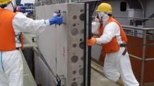 Repair work continues at the crippled Fukushima nuclear plant