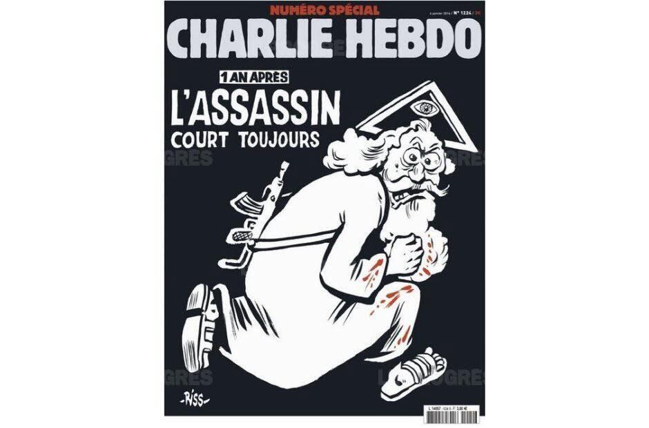 Bìa số đúp của Charlies Hebdo ra thứ Sáu 08/01/2016.