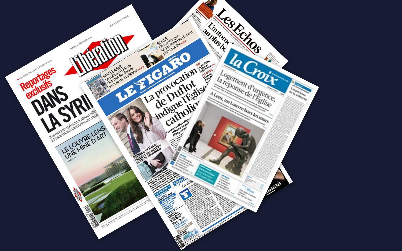 Capa dos jornais franceses desta terça-feira, (4).