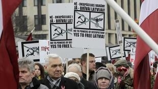Демонстрация памяти латышского легиона Waffen SS, Рига, 16 марта 2012 года