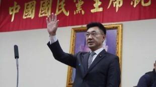 中国国民党新任主席江启臣资料图片
