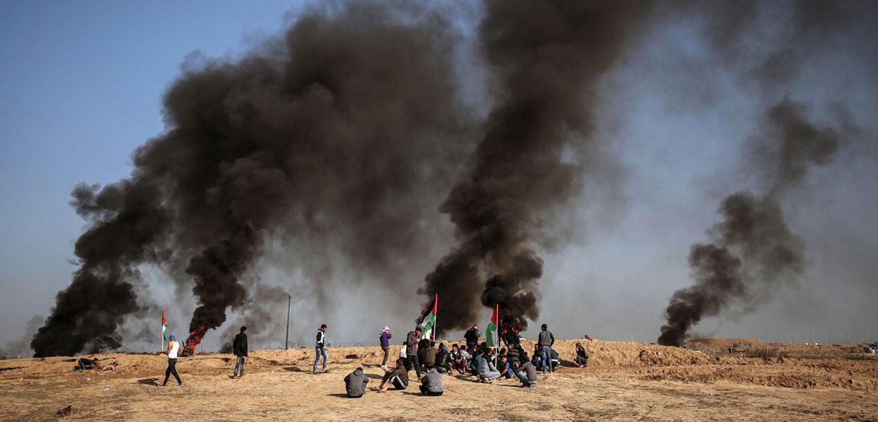 بمباران مواضع حماس در نوار غزه توسط ارتش اسرائیل