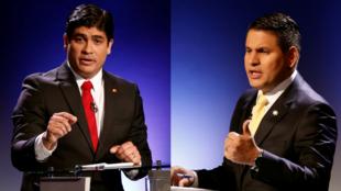 Carlos Alvarado, à esquerda, e Fabricio Alvarado, à direita.