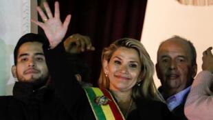 La nouvelle présidente, Jeanine Anez, le 12 novembre.