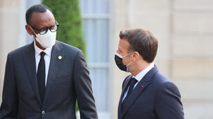 France - Élysée - Emmanuel Macron - Paul Kagame - MACRON-KAGAME_PRW_4089