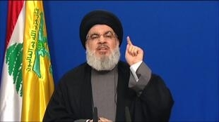 Hassan Nasrallah, the head of Lebanon's powerful Shiite Muslim movement Hezbollah