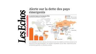 Artigo do jornal francês Les Echos desta terça-feira destaca as dívidas dos países emergentes.