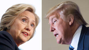 Os candidatos às eleições presidenciais americanas, Hillary Clinton e Donald Trump