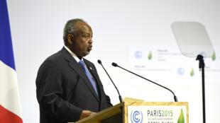Ismaïl Omar Guelleh, le président djiboutien, lors de la COP21 à Paris, le 30 novembre 2015.