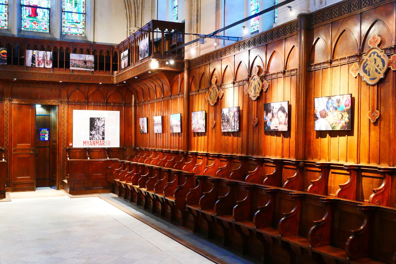 L'exposition «Myanmar Printemps 2021» est à voit jusqu'au 31 octobre 2021 dans La Chapelle attenante à la Tapisserie de Bayeux.