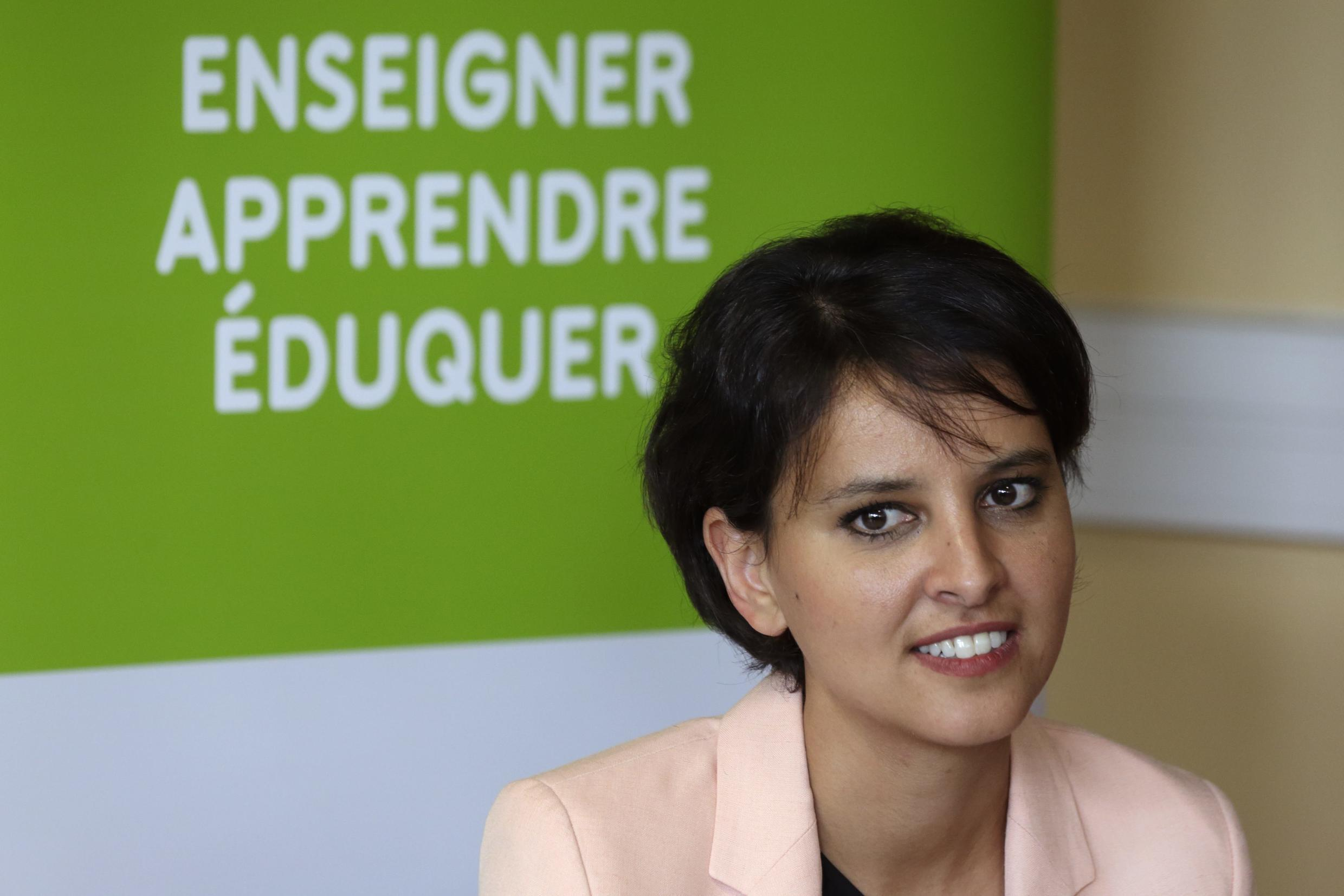 Najat Vallaud-Belkacem has come under fire for trying to introduce a controversial set of school reforms.