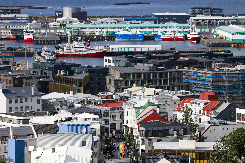Vista de un barrio de Reikiavik, capital de Islandia, el 7 de septiembre de 2021