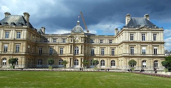 El palacio de Luxemburgo, sede del Senado de francés.