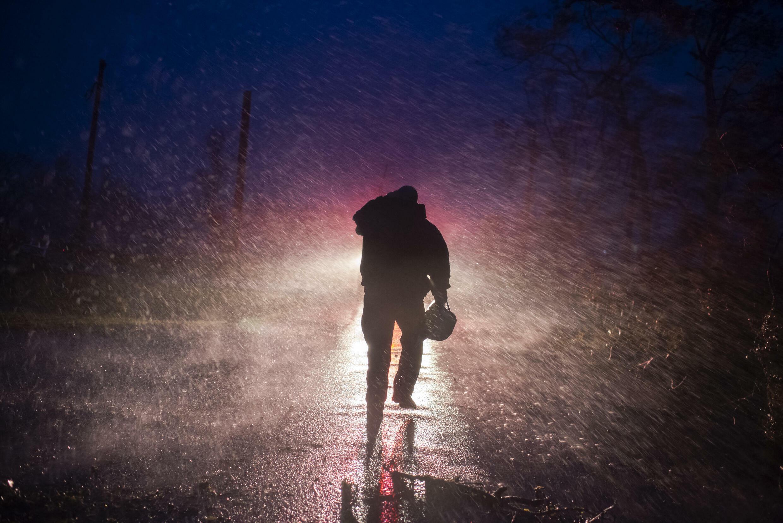 pompier ouragan ida