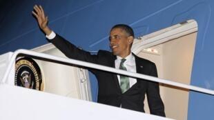 Barack Obama mardi 19 mars alors qu'il s'apprête à s'envoler pour Israël.