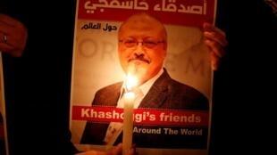 民眾紀念遇害沙特記者卡舒吉資料圖片