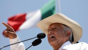 墨西哥总统安德烈斯·曼努埃尔·洛佩斯·奥夫拉多尔资料图片