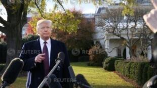 دونالد ترامپ در گفتگو با رسانهها از موضع خود در بارۀ مناسبات با عربستان دفاع کرد – ٢٠ نوامبر ٢٠١٨