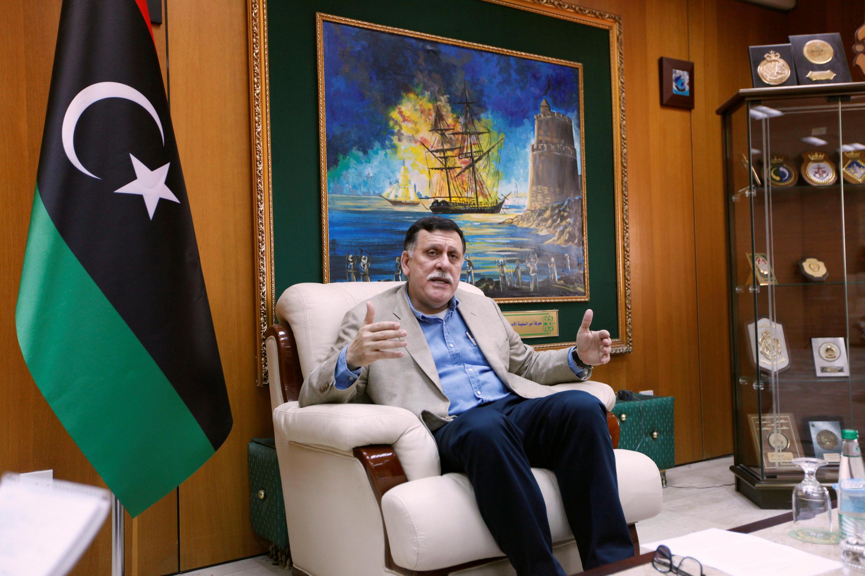 Le Premier ministre du gouvernement libyen d'union nationale Fayez al-Sarraj, dans son bureau à Tripoli, le 3 juin 2016.