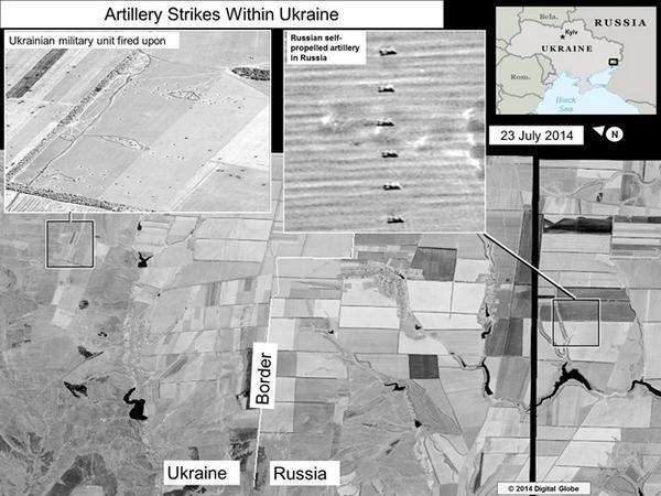 Артиллерийские удары по территории Украины