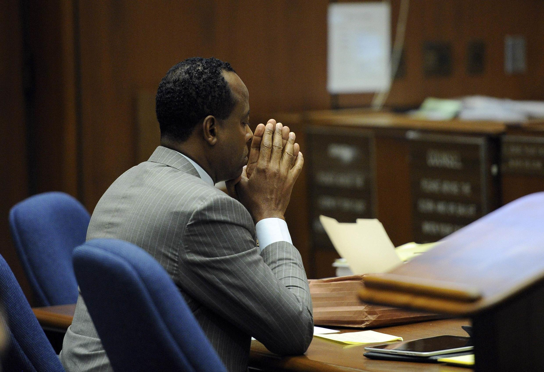 Le Dr Conrad Murray lors de son procès à Los Angeles, le 1er novembre 2011.