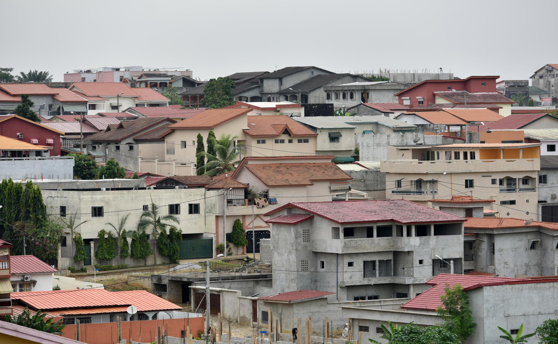 Une vue du quartier résidentiel de Cocody à Abidjan, en Côte d'Ivoire.