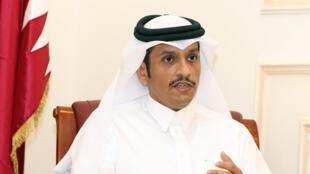 Le ministre des Affaires étrangères du Qatar, cheikh Mohammed ben Abderrahman al-Thani.