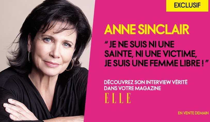 Publicidad del número de Elle con la entrevista a Anne Sinclair.