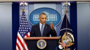 Última conferência de imprensa de Barack Obama como chefe de Estado a 18 de Janeiro de 2017.