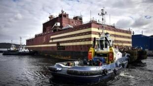 圖為俄羅斯世界首座浮動式核電站