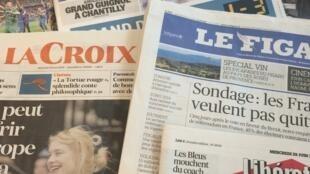 Primeiras páginas dos diários franceses 29/06/2016