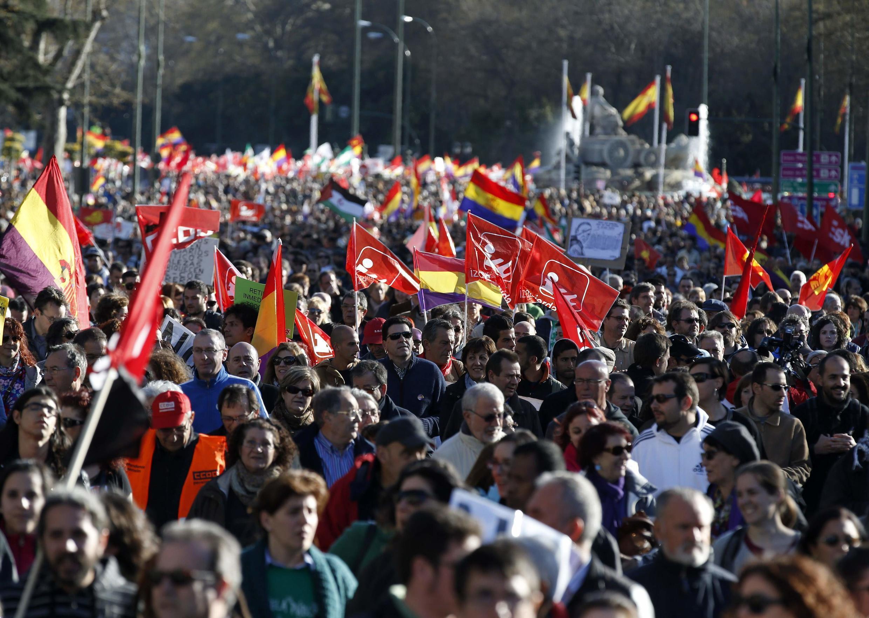«Марш достоинства» в Мадриде 22 mars 2014.