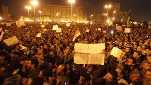 Les manifestants sur la place Tahrir au Caire, le 30 janvier 2011.