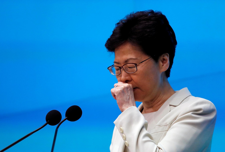 林鄭月娥舉行新聞發布會 2019年6月18日